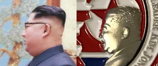 Nhà Trắng khắc họa ông Kim Jong Un hai cằm trên đồng xu kỉ niệm thượng đỉnh Mỹ - Triều - Ảnh 2.