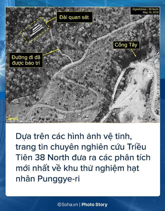 [PHOTO STORY] Bãi thử nghiệm hạt nhân Punggye-ri thay đổi chóng mặt trước giờ G - Ảnh 1.