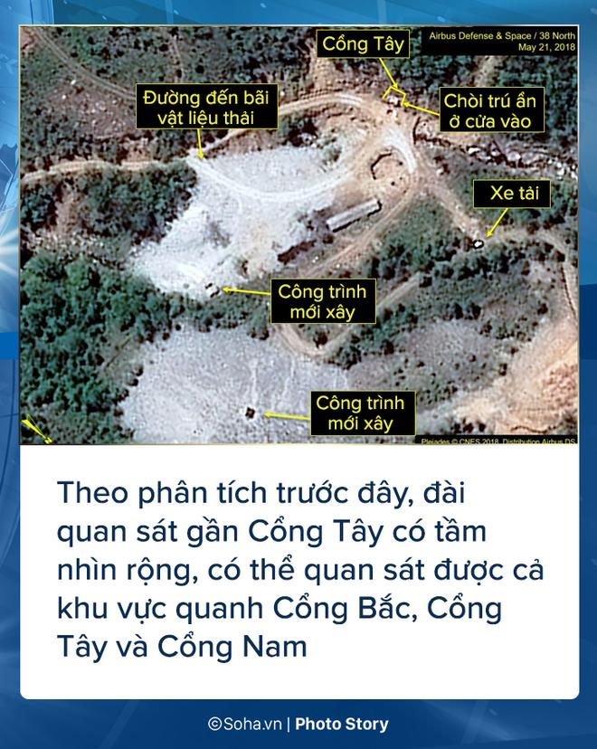 [PHOTO STORY] Bãi thử nghiệm hạt nhân Punggye-ri thay đổi chóng mặt trước giờ G - Ảnh 4.