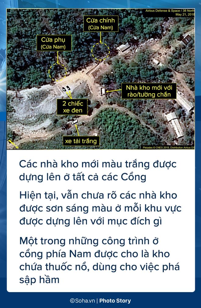 [PHOTO STORY] Bãi thử nghiệm hạt nhân Punggye-ri thay đổi chóng mặt trước giờ G - Ảnh 6.