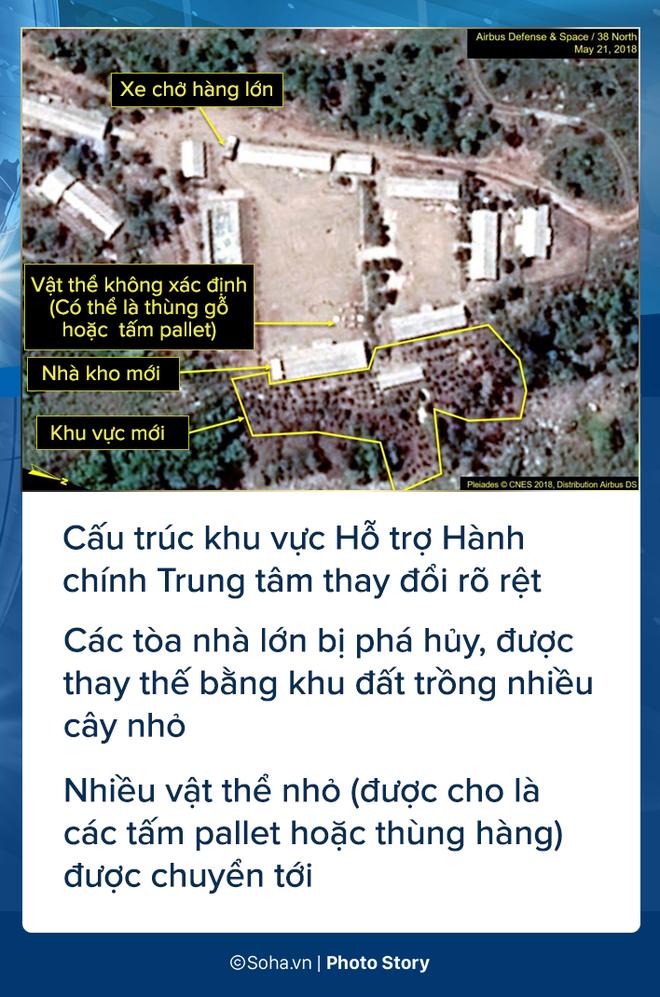 [PHOTO STORY] Bãi thử nghiệm hạt nhân Punggye-ri thay đổi chóng mặt trước giờ G - Ảnh 7.