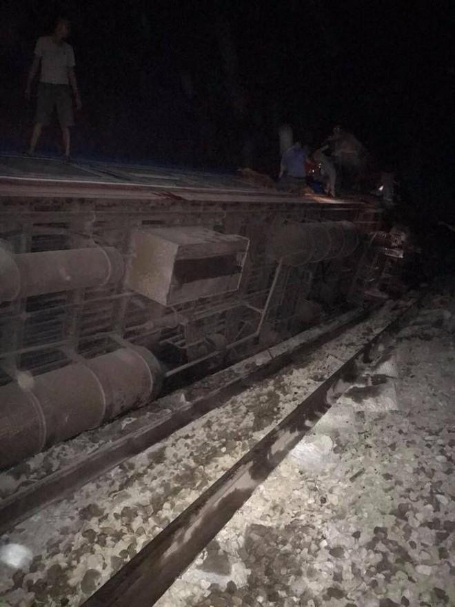 Hình ảnh vụ tai nạn đường sắt ở Thanh Hóa.