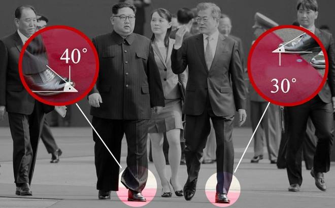"""Chuyên gia Hàn Quốc """"soi"""" ra giày độn của ông Kim Jong-Un từ độ dốc bàn chân"""