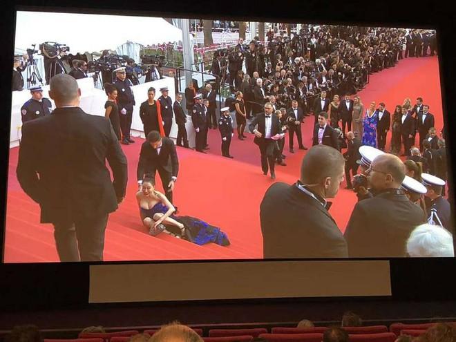 Hoa hậu Trung Quốc giả vờ ngã để gây chú ý trên thảm đỏ Cannes 2018? - Ảnh 1.