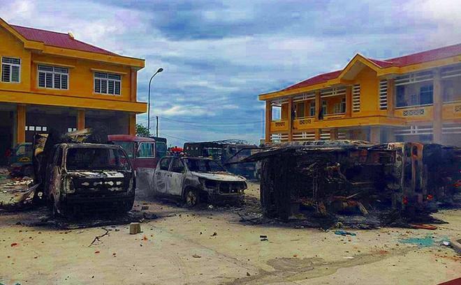 Nhiều người quá khích ném đá và gây rối ở Bình Thuận khai được cho tiền
