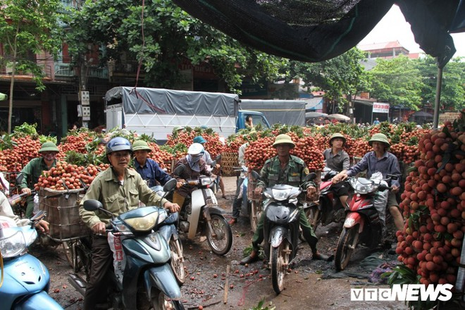 Ảnh: Dân Bắc Giang xếp hàng cả tiếng đồng hồ chờ cân vải - Ảnh 8.