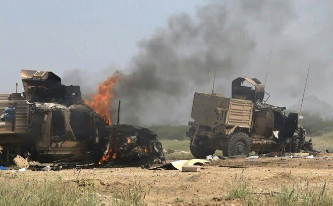 Liên quân nếm đòn thù của Houthi: Tên lửa chống tăng dìm 13 xe thiết giáp trong biển lửa