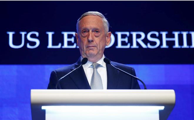 """Tướng Mattis nói về biển Đông: Mỹ sẽ """"cạnh tranh quyết liệt"""" với Trung Quốc nếu cần thiết"""
