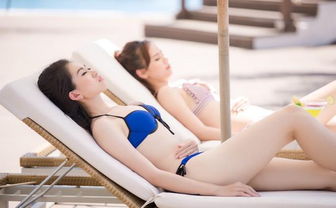 """Thí sinh """"Hoa hậu Việt Nam 2018"""" khoe vẻ nóng bỏng với bikini"""