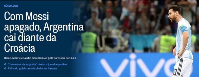 Xấu hổ, thảm họa, đau khổ, báo Argentina câm lặng vì Messi và đồng đội - Ảnh 10.