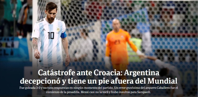 Xấu hổ, thảm họa, đau khổ, báo Argentina câm lặng vì Messi và đồng đội - Ảnh 3.