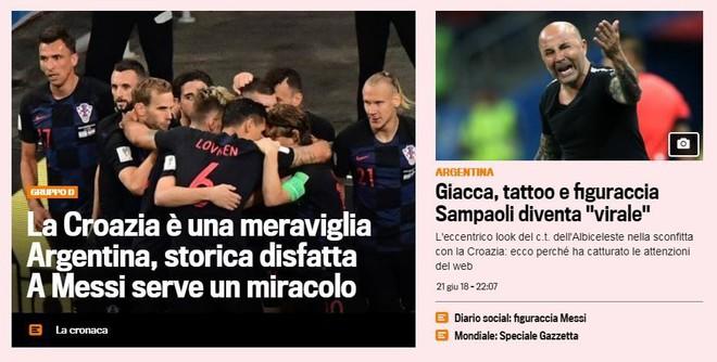 Xấu hổ, thảm họa, đau khổ, báo Argentina câm lặng vì Messi và đồng đội - Ảnh 6.