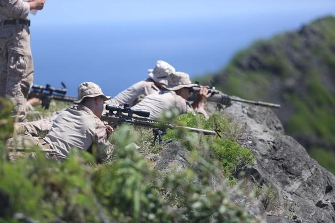 """Kỹ năng ẩn nấp và tác xạ của """"sát thủ vô hình"""" lính bắn tỉa Mỹ - Ảnh 15."""