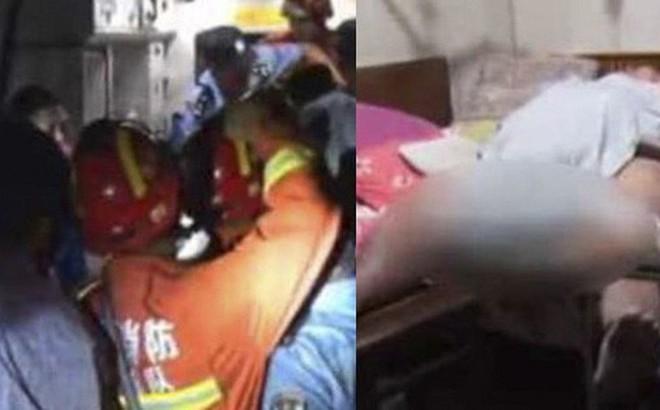 Thanh niên nặng 200kg bị thương khi đang tắm, nhân viên y tế bó tay đành phải gọi đội cứu hộ thiên tai tới giải cứu anh chàng