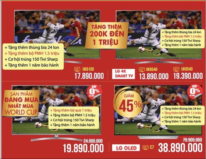 Tivi đồng loạt giảm giá chục triệu, tăng lên khuyến mại mùa World Cup - Ảnh 2.
