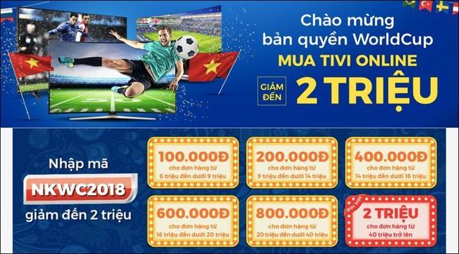 Tivi đồng loạt giảm giá chục triệu, tăng lên khuyến mại mùa World Cup - Ảnh 3.