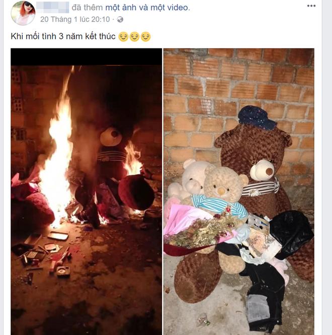 CLIP: Cô gái châm lửa đốt đồ người yêu tặng sau khi chia tay gây nhiều tranh cãi - Ảnh 1.