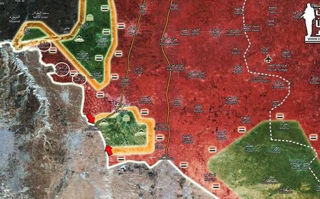 """Quân đội Syria khép chặt vòng vây ở Daraa, các nhóm thánh chiến chỉ có """"đầu hàng hoặc chết"""""""