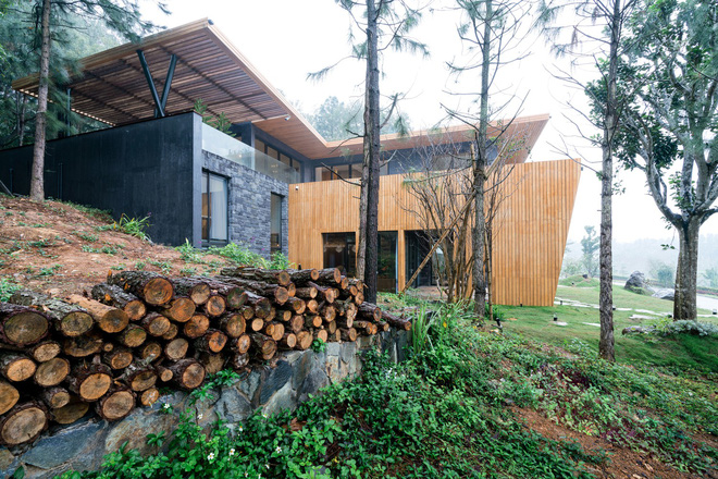 Độc đáo với biệt thự giữa đồi thông có bể bơi ngoài trời ở Vĩnh Phúc - Ảnh 1.
