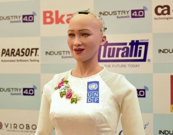 Robot Sophia mặc áo dài, trò chuyện về 4.0 ở Việt Nam - Ảnh 6.