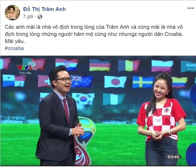 Buồn vì Croatia thua, hot girl Trâm Anh vẫn muốn đại diện cho đội tuyển này sau 4 năm nữa - Ảnh 1.