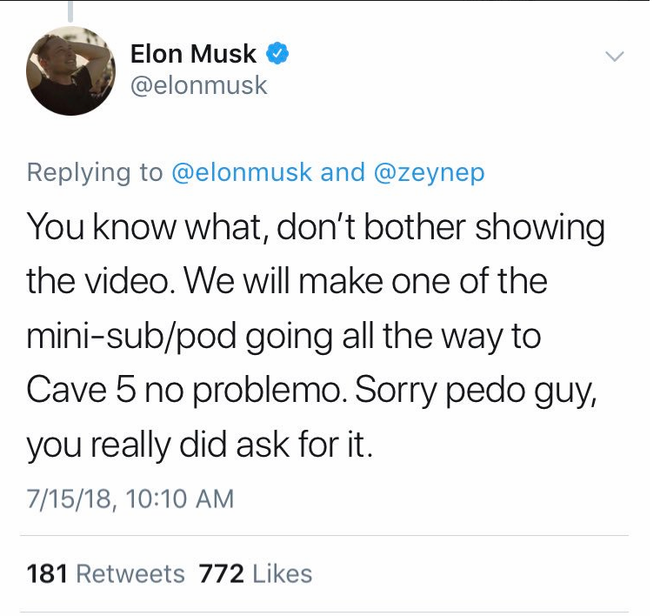 Tàu ngầm mini bị chê bai, Elon Musk tức giận gọi thợ lặn người Anh là kẻ ấu dâm - Ảnh 1.