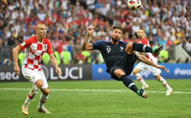 Pháp vô địch World Cup 2018 với tiền đạo 7 trận không một lần sút trúng đích