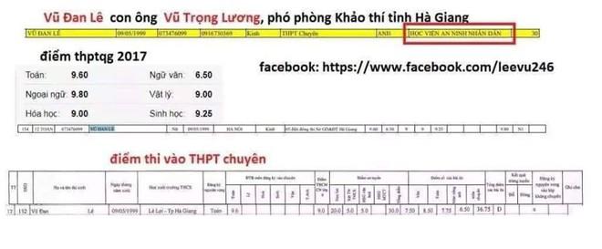 Thực hư tin ông Vũ Trọng Lương sửa điểm thi cho con gái lên đến 28,4 điểm - Ảnh 1.