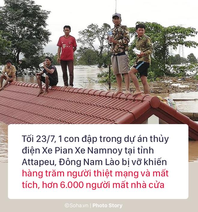 Vỡ đập thủy điện Lào: Người dân leo cây chờ cứu hộ, khắc phục sự cố phải chờ đến mùa khô - Ảnh 1.