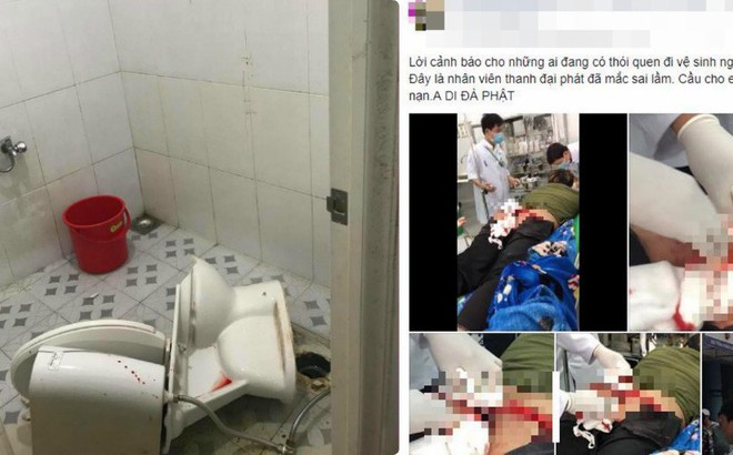 Vụ tai nạn do ngồi bồn cầu không đúng tư thế khiến dân mạng Việt rùng mình