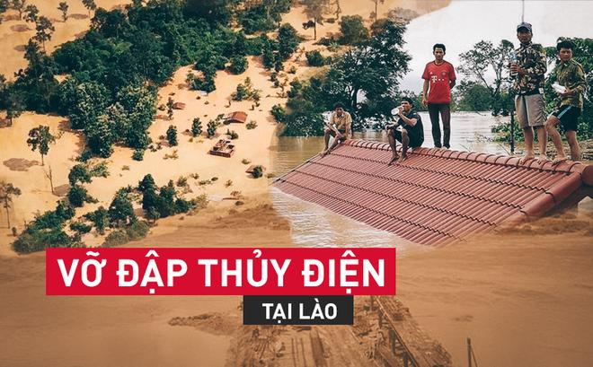 Vỡ đập thủy điện Lào: Người dân leo cây chờ cứu hộ, khắc phục sự cố phải chờ đến mùa khô