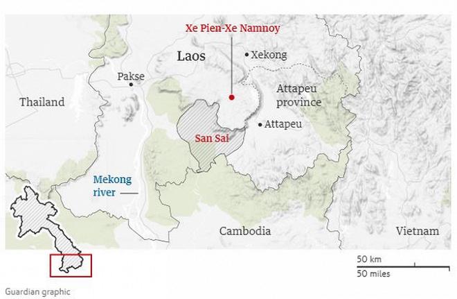 Nước lũ do vỡ đập ở Lào tràn xuống Campuchia, hàng nghìn người phải sơ tán - Ảnh 2.