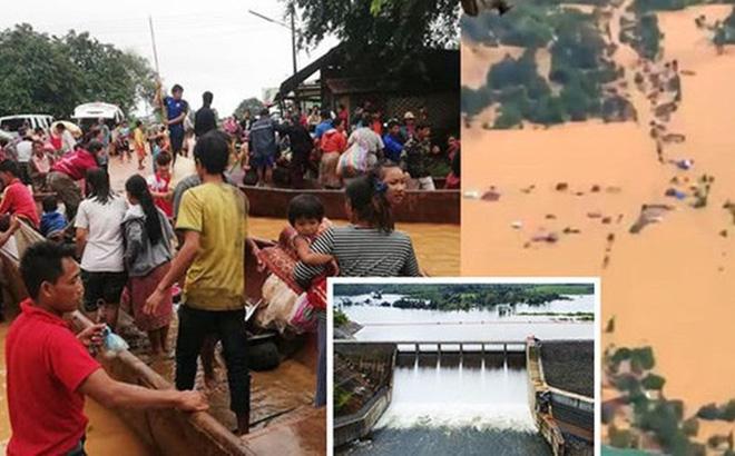 Ba đập thủy điện khác ở Lào đang xả nước sau vụ vỡ đập Attapeu