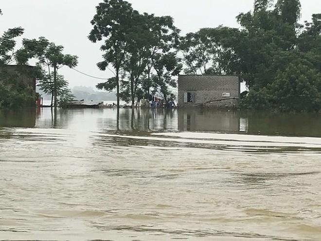 Tăng cường xuồng máy hỗ trợ bà con vùng ngập lụt Chương Mỹ - Ảnh 1.