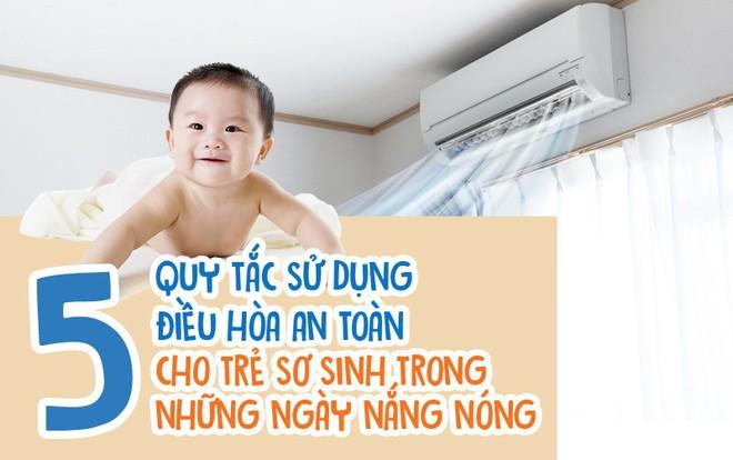 Mẹ phải biết: 5 quy tắc dùng điều hòa để trẻ không bị ốm trong những ngày nắng nóng - Ảnh 1.