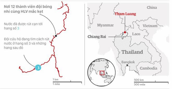 Đội bóng Thái Lan bị mắc kẹt: Bão lớn sắp ập tới, hàng trăm máy bơm chạy đua với trời - Ảnh 1.