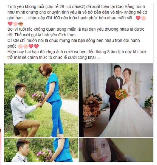 Cô dâu 61 tuổi kết hôn với chú rể 26 tuổi gây xôn xao: Mong dư luận thôi phán xét - Ảnh 2.