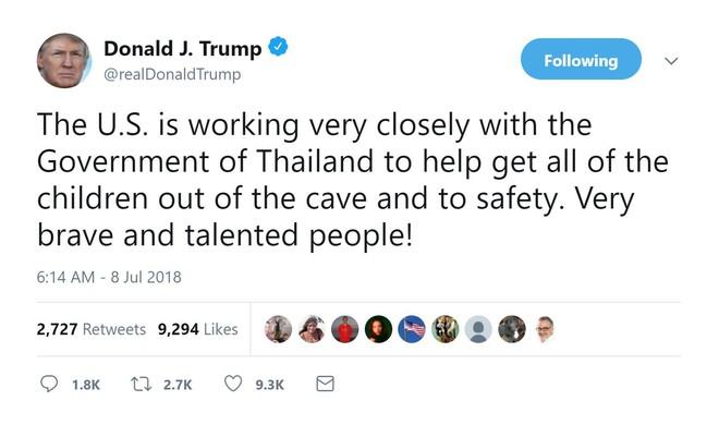 Thái Lan giải cứu thành công 4 cầu thủ nhí, TT Trump liền tuyên bố Mỹ cũng góp sức - Ảnh 1.
