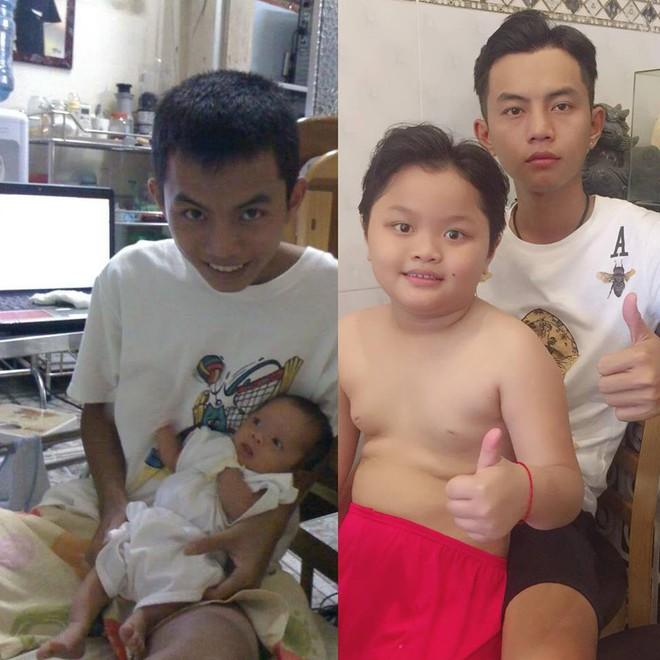 Ông bố 28 khoe ảnh chụp với con trai 8 tuổi: Học xong lớp 11 mình lấy vợ rồi sinh con thôi - Ảnh 1.