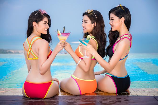 Ảnh bikini nóng bỏng của Hoa hậu Đỗ Mỹ Linh và 2 nàng Á hậu - Ảnh 3.