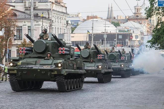 Ukraine duyệt binh, khoe sức mạnh quân sự răn đe ly khai miền Đông - Ảnh 13.