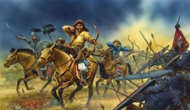 Trúng tên chí mạng, tướng Mông Cổ được Thành Cát Tư Hãn nhét vào bụng bò, cải tử hoàn sinh - Ảnh 1.