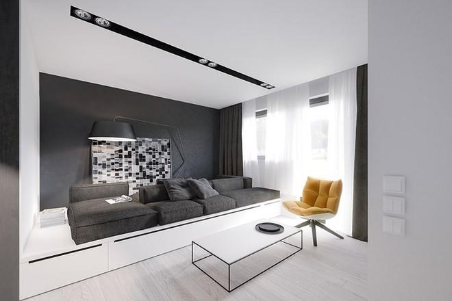 Cách bố trí nội thất hợp lý trong căn hộ 50m2 - Ảnh 1.