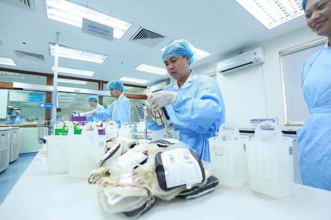 Ảnh: Bên trong phân xưởng điều chế máu lớn nhất miền Bắc - Ảnh 3.
