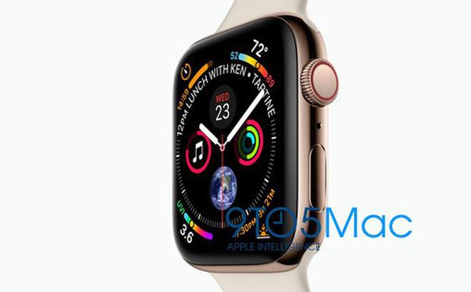 Apple Watch Series 4 với màn hình viền siêu mỏng lộ diện