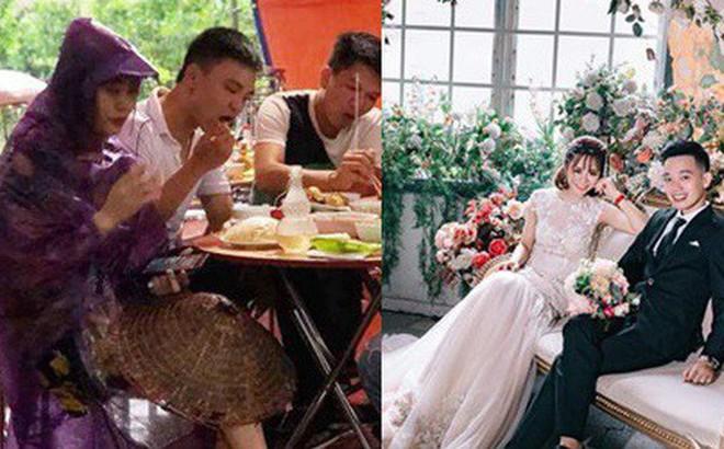 """Cô dâu diện nguyên """"combo"""" nón lá, dép tổ ong, áo mưa kín người trong ngày cưới khiến dân mạng bật cười"""