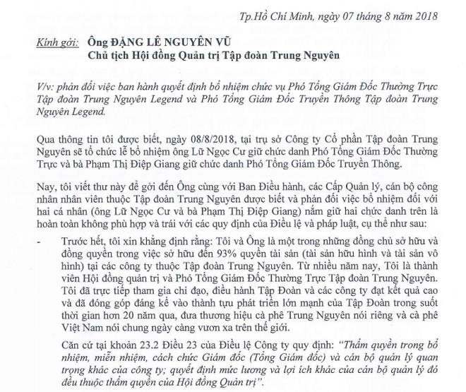 Đặng Lê Nguyên Vũ đưa người mới thay vị trí của vợ, bà Lê Hoàng Diệp Thảo phản đối - Ảnh 2.