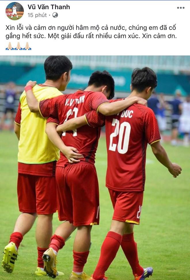 Công Phượng, Văn Toàn cùng nhiều cầu thủ nói lời tạm biệt U23 Việt Nam sau thất bại trước UAE - Ảnh 1.
