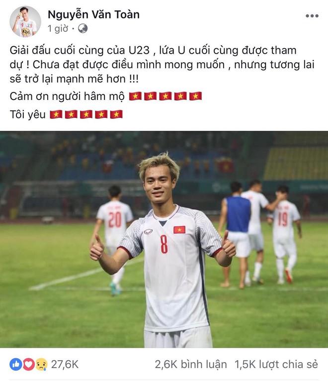 Công Phượng, Văn Toàn cùng nhiều cầu thủ nói lời tạm biệt U23 Việt Nam sau thất bại trước UAE - Ảnh 9.