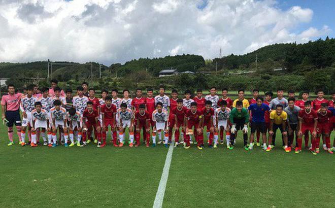 U16 Việt Nam thua đàn anh U18 Shimizu trong trận giao hữu cuối cùng tại Nhật Bản